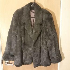 Gorgeous vintage rabbit fur coat